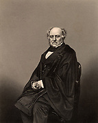 Richard Bethell (1800-1873), lst Baron Westbury. British lawyer born at Bradford-on-Avon, Wiltshire. Lord Chancellor 1861-1865.  Engraving from 'The Illustrated News of the World' (London, c1860).