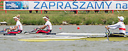 Poznan, POLAND.  Woen's lightweight double sculls  GBR LW2X, Bow: Charlotte TAYLOR and Kat COPELAND, gold medalist,  2015 FISA European Rowing Championships. Venue, Lake Malta. Sunday 31.05.2015. [Mandatory Credit: Peter Spurrier/Intersport Images]