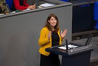DEU, Deutschland, Germany, Berlin, 27.11.2019: Dr. Anna Christmann (B90/Die Grünen) bei einer Rede während einer Plenarsitzung im Deutschen Bundestag.
