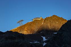 THEMENBILD - Bergstation der Gaislachkogelbahn II im letzten Abendlicht. Der Gaislachkogel ist ein (3056m) hoher Berg in den Ötztaler Alpen in Tirol, Österreich. Sölden am Donnerstag den 09.07.2020 // Mountain station of the Gaislachkogelbahn II in the last evening light. The Gaislachkogel is a (3056m) high mountain in the Ötztal Alps in Tyrol, Austria. Soelden, Austria on Thursday, July 9th, 2020. EXPA Pictures © 2020, PhotoCredit: EXPA/ Johann Groder