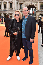 Jennifer Saunders and Ade Edmonson at the Royal Academy of Arts Summer Exhibition Preview Party 2017, Burlington House, London England. 7 June 2017.