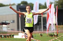 Thijs Nijhuis vinder DM på 5000m foran Abdi Hakin Ulad. Danmarksmesterskaber i atletik, Odense, 3. august 2014.