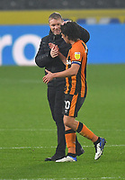 Hull City's Manager Grant McCann celebrates the win with his captain, George Honeyman<br /> <br /> Photographer Dave Howarth/CameraSport<br /> <br /> The EFL Sky Bet League One - Hull City v Plymouth Argyle - Saturday 3rd October 2020 - KCOM Stadium - Kingston upon Hull<br /> <br /> World Copyright © 2020 CameraSport. All rights reserved. 43 Linden Ave. Countesthorpe. Leicester. England. LE8 5PG - Tel: +44 (0) 116 277 4147 - admin@camerasport.com - www.camerasport.com