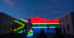 South Africa - Cape Town - 19 October 2020 - On Monday evening, the SAAO's Cape Town facility was illuminated in the colours of the South African flag. The activities are part of a week-long programme of events to celebrate the SAAO's bicentennial excellence in astrophysics research and the significant scientific role it has played as the oldest permanent observatory in the Southern Hemisphere.  Picture Courtney Africa/African News Agency(ANA)