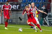 TILBURG - Willem II - SC Heerenveen, koning Willem II stadion, 23-09-2017. Voetbal, eredivisie voetbal seizoen 2017-2018. Duel met (L-R) SC Heerenveen speler Martin Odegaard en Willem II speler Jop van der Linden.<br /> Martin Ødegaard <br /> Norway only