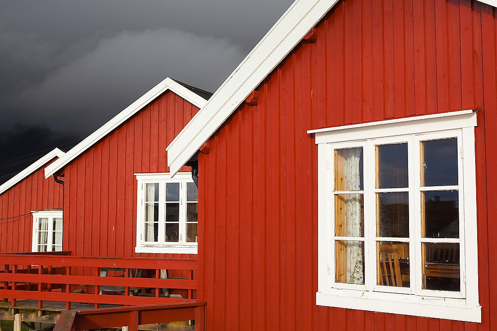Traditional rorbu cabins in Å, Lofoten Islands, Norway.