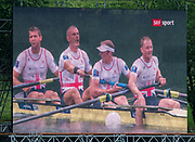 Lucerne, SWITZERLAND,  2016 FISA WCII, Men's Four Final, GBR M4- Bow Stewart INNES, Mohamed SBIHI, George NASH, Alex GREGORY, Lake Rotsee Lake Rotsee, Sunday, 29/05/2016,<br /> [Mandatory Credit; Peter SPURRIER/Intersport-images]