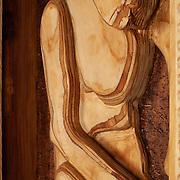 "Title: Dave in a Box<br /> Artist: Roderick Hilliard<br /> Date: 2012<br /> Medium: Wood<br /> Dimensions: 20 x 5.5 x 24"""