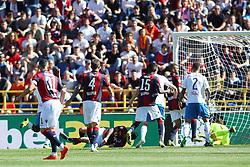 """Foto LaPresse/Filippo Rubin<br /> 27/04/2019 Bologna (Italia)<br /> Sport Calcio<br /> Bologna - Empoli - Campionato di calcio Serie A 2018/2019 - Stadio """"Renato Dall'Ara""""<br /> Nella foto: GOAL BOLOGNA ROBERTO SORIANO (BOLOGNA F.C.)<br /> <br /> Photo LaPresse/Filippo Rubin<br /> April 27, 2019 Bologna (Italy)<br /> Sport Soccer<br /> Bologna vs Empoli - Italian Football Championship League A 2017/2018 - """"Renato Dall'Ara"""" Stadium <br /> In the pic: GOAL BOLOGNA ROBERTO SORIANO (BOLOGNA F.C.)"""