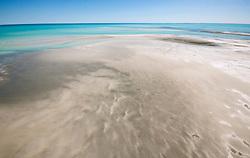 Aerial view of a sandbank in Roebuck Bay.