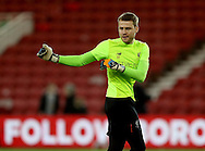Simon Mignolet of Liverpool arms up before the English Premier League match at the Riverside Stadium, Middlesbrough. Picture date: December 14th, 2016. Pic Simon Bellis/Sportimage