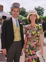 VISCOUNT & VISCOUNTESS MACKINTOSH of HALIFAX at Royal Ascot on 16th June 1999.MTH 9