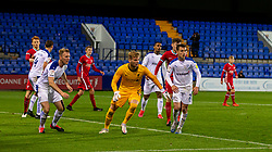 BIRKENHEAD, ENGLAND - Tuesday, September 29, 2020: Liverpool's goalkeeper Vitezslav Jaros joins the attack during the EFL Trophy Northern Group D match between Tranmere Rovers FC and Liverpool FC Under-21's at Prenton Park. Tranmere Rovers won 3-2. (Pic by David Rawcliffe/Propaganda)