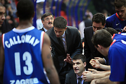 Coach Velimir Perasovic  at Euroleague match between KK Cibona and Air Avellino, on November 26, 2008, in Cibona Tower, Zagreb, Croatia. Match was won by Cibona 82:79. (Photo by Vid Ponikvar / Sportida)