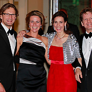 NLD/Amsterdam/20110527 - 40ste verjaardag Prinses Maxima, Prins Bernard en Prinses Annette met Prinses Anita en Prins Pieter Christiaan Vollenhoven