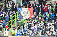 French FGR fans during the EFL Sky Bet League 2 match between Forest Green Rovers and Exeter City at the New Lawn, Forest Green, United Kingdom on 4 May 2019.