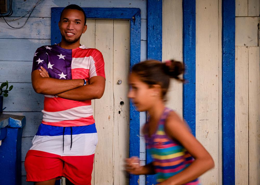 BARACOA, CUBA - CIRCA JANUARY 2020: Portrait of local around Bahia de Mata, a village close to Baracoa in Cuba.