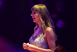 Taylor Swift during the Brit Awards 2021 at the O2 Arena, London. Picture date: Tuesday May 11, 2021.