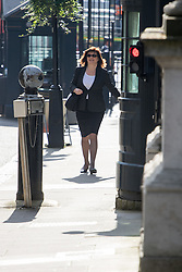 Downing Street, London, May 17th 2016. Education Secretary Nicky Morgan arrives at the weekly cabinet meeting in Downing Street.