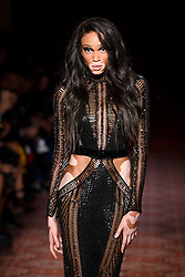 Model Winnie Harlow on the catwalk during the Julien Macdonald Autumn/Winter 2017 London Fashion Week show at Goldsmith's Hall, London.PRESS ASSOCIATION Photo. Picture date: Saturday February 18th, 2017. Photo credit should read: Matt Crossick/PA Wire.
