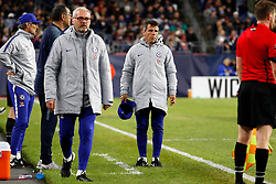 May 15, 2019 - Foxborough, MA, U.S. - FOXBOROUGH, MA - MAY 15: Chelsea FC assistant coach Gianfranco Zola during the Final Whistle on Hate match between the New England Revolution and Chelsea Football Club on May 15, 2019, at Gillette Stadium in Foxborough, Massachusetts. (Photo by Fred Kfoury III/Icon Sportswire) (Credit Image: © Fred Kfoury Iii/Icon SMI via ZUMA Press)