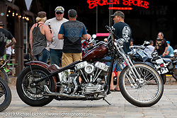 Franklin Church Choppers' Tom Keefer's 1956 Harley-Davidson Panhead custom chopper at Warren Lane's True Grit Antique Gathering bike show at the Broken Spoke Saloon in Ormond Beach during Daytona Beach Bike Week, FL. USA. Sunday, March 10, 2019. Photography ©2019 Michael Lichter.