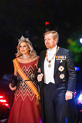 King Willem-Alexander and Queen Maxima of the Netherlands, King Carl Gustaf XI and Crown Princess Victoria of Sweden, King Felipe VI and Queen Letizia of Spain and Prince Haakon of Norway attend the Court Banquet during the Accession to the Throne of His Majesty the Emperor of Japan Naruhito, at the Imperial Palace in Tokyo, Japan. 22 Oct 2019 Pictured: King Willem-Alexander and Queen Maxima of the Netherlands, King Carl Gustaf XI and Crown Princess Victoria of Sweden, King Felipe VI and Queen Letizia of Spain and Prince Haakon of Norway. Photo credit: MEGA TheMegaAgency.com +1 888 505 6342