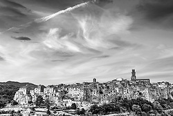 Pitigliano Italy one of Tuscany's hilltop village relics of its long and embattled past.