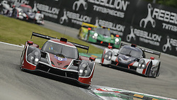 May 11, 2019 - Monza, MB, Italy - 360 RACING team (Woodward, Kaiser and Dayson) at high speed Ascari chicane in Monza during Free Practice Session 2 of ELMS italian round. (Credit Image: © Riccardo Righetti/ZUMA Wire)