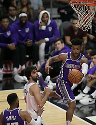 October 12, 2017 - Los Angeles, California, U.S - Frank Mason III #10 of the Sacramento Kings passes the ball during their preseason game against the Los Angeles Clippers on Thursday October 12, 2017 at the Galen Center in USC in Los Angeles, California. Clippers defeat Kings, 104-87. (Credit Image: © Prensa Internacional via ZUMA Wire)