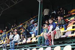Johannesburg 14-10-18 South Africa v Zimbabwe T20I at Willowmore Park, Benoni. Cricket fans sit high up in the stand to keep dry, waiting to see if play will take place. <br /> Picture: Karen Sandison/African News Agency(ANA)