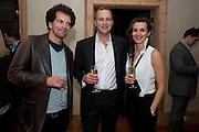 ADAM WISHART; STEFAN TURNBULL; GOSIA TURNBULL; , Launch of the Orange restaurant, 37 Pimlico Road, SW1W 8NE,  Thursday 29 October 2009