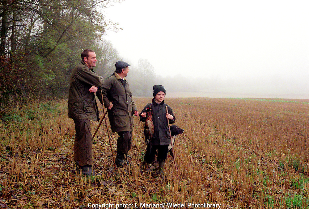 Family shooting party The Ford shoot in the Cotswolds.
