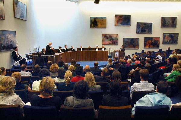 Nederland, Nijmegen, 28-8-2007..Een promotie in de aula aan de Radboud Universiteit...Foto: Flip Franssen/Hollandse Hoogte