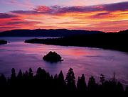 Dawn over Emerald Bay, Emerald Bay State Park, Lake Tahoe, California