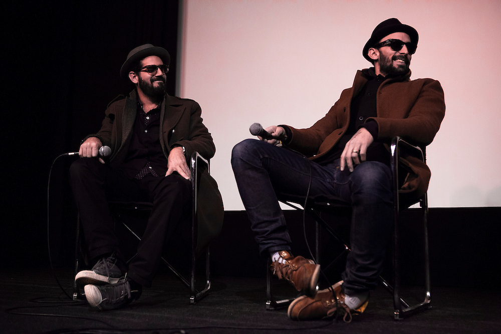 JR and José Parlá at the ICA for a Q&A about their collaboration for the latest iteration of The Wrinkles of the City project undertaken for the  Havana Biennale.