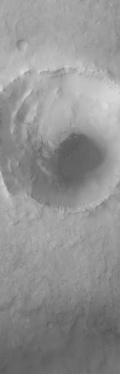Dunes cover the floor of Bopolu Crater in Meridiani Planum.
