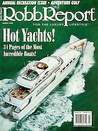 Magazine Cover - Robb Report Paraffin Yacht