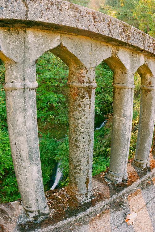 Historic bridge and falls at Shepperd's Dell, Columbia River Gorge National Scenic Area, Oregon
