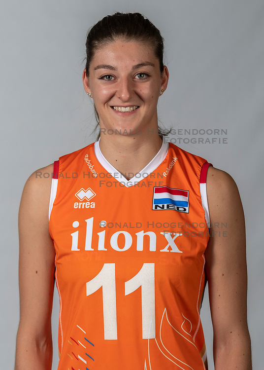 10-05-2018 NED: Team shoot Dutch volleyball team women, Arnhem<br /> Anne Buijs #11 of Netherlands