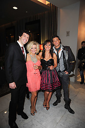 Left to right, ALEX GAUMOND, Actress Sheridan Smith, JILL HALFPENNY and DUNCAN JAMES at the after show party following the first night of the musical Legally Blonde, held at the Waldorf Hilton Hotel, Aldwych, London on 13th January 2010.