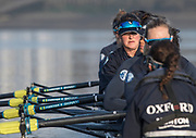 Putney, London,  Tideway Week, OUWBC. Oxford. 6: Harriet AUSTIN, Championship Course. River Thames, <br /> <br /> Tuesday  28/03/2017<br /> [Mandatory Credit; Credit: Peter Spurrier/Intersport Images.com]]