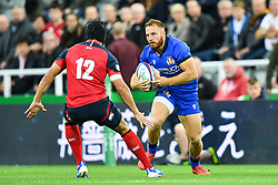 Giulio Bisegni of Italy in action during todays match<br /> <br /> Photographer Craig Thomas/Replay Images<br /> <br /> Quilter International - England v Italy - Friday 6th September 2019 - St James' Park - Newcastle<br /> <br /> World Copyright © Replay Images . All rights reserved. info@replayimages.co.uk - http://replayimages.co.uk