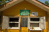 A stand selling conch, the local specialty in Dunmore Town, Harbour Island, The Bahamas