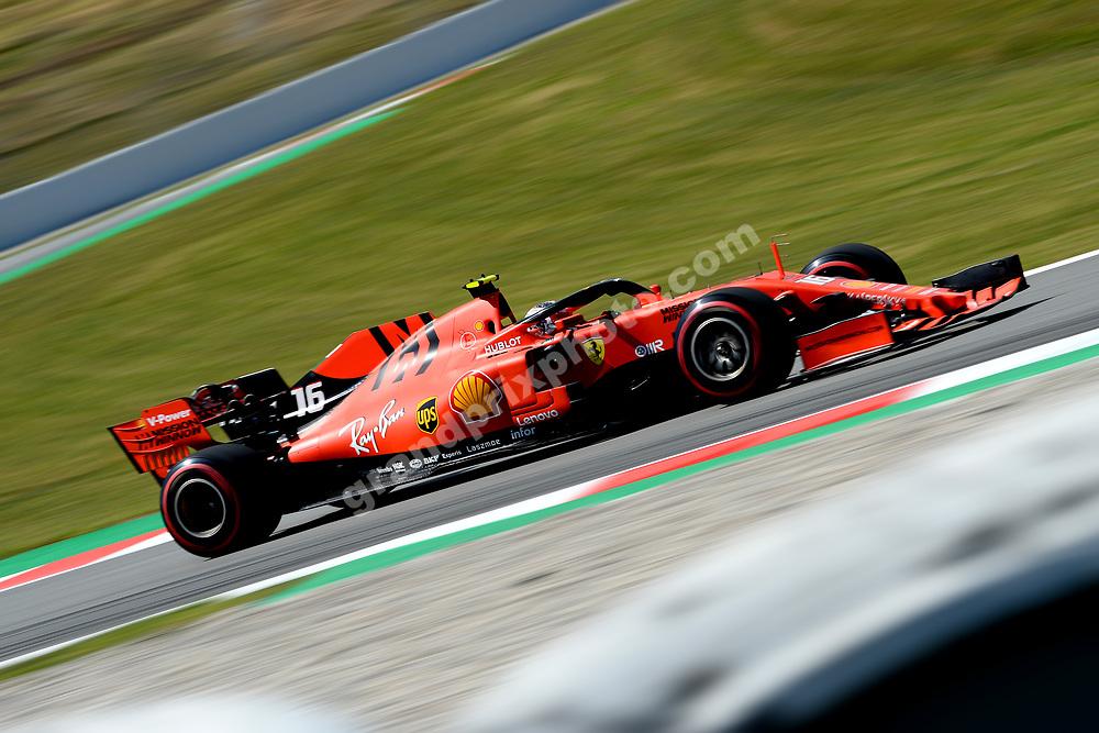 Charles Leclerc (Ferrari) during practice before the 2019 Spanish Grand Prix at the Circuit de Barcelona-Catalunya. Photo: Grand Prix Photo