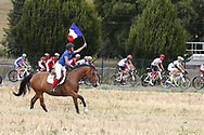 Illustration fan, horse, french flag, Scenery during the 105th Tour de France 2018, Stage 21, Houilles - Paris Champs-Elysees (115 km) on July 29th, 2018 - Photo Luca Bettini / BettiniPhoto / ProSportsImages / DPPI