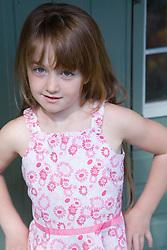 Portrait of a little girl,