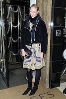 Jade Parfitt, Claridge's Christmas Tree - party, Claridge's Hotel, London UK, 26 November 2013, Photo by Raimondas Kazenas