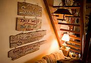 Interior detail shots of Stinson's Ranch in Nag's Head, North Carolina