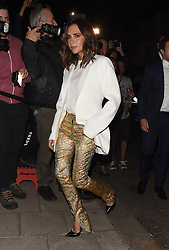 Celebrities attend the Vogue & Victoria Beckham Party, held at Mark's Club in Mayfair. 16 Sep 2018 Pictured: Victoria Beckham. Photo credit: Will / MEGA TheMegaAgency.com +1 888 505 6342